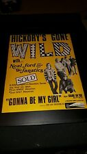 Neal Ford & The Fanatics Gonna Be My Girl Rare Original Promo Poster Ad Framed!