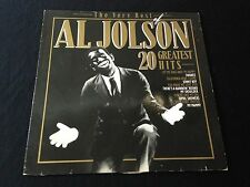 The Very Best Of Al Jolson 20 Greatest Hits Lp Record