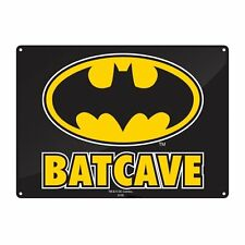 Batman Small Metal Wall Plaque Sign BATCAVE