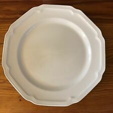 "7 Mikasa Antique White 8.25"" Salad Plates Ultima + HK 400 Scalloped Design - EUC"