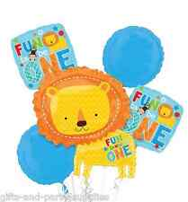 One Wild Boy Lion Fun to be One Balloon Bouquet First 1st Birthday Party Supply