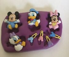 Disney Babies Silicone Mould.topper.cupcake.mickey.minnie Mouse.baby.christening