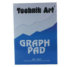 A4 40 Sheets Technik Art Graph Paper Pad - 2mm / 10mm / 20mm Squares CH21026