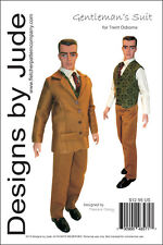 Men's Suit Doll Clothes Sewing Pattern  for Trent Osborne Odum, Integrity
