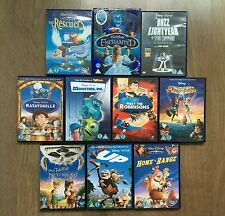 Disney Classics 10 x DVD Movie Bundle: UP MONSTERS THE RESCUERS, TINKER BELL etc
