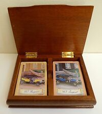 Vintage 1907 Peugeot Poker Playing Cards in Original Wooden Box
