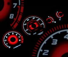 96-00 EK HONDA Civic EX Radiant Red Glow Gauge BLACK AT Gauges