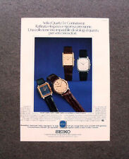 [GCG] M468 - Advertising Pubblicità - 1979 - SEIKO QUARTZ LE CONNAISSEUR