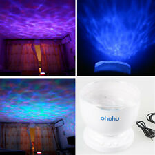 Romantic Multicolor 8-Mode 12 LED Party Light Ocean Wave Projector Speaker Lamp
