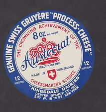 Ancienne  étiquette Fromage  Suisse BN12985 Couronne New York