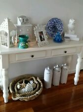 Halltable console, Refurbished WHITE  French Provincial, Hamptons, 1954 Heritage