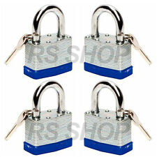 4 x 38mm Heavy Duty Solid Brass Keyed Alike Laminated Padlocks One Key For All