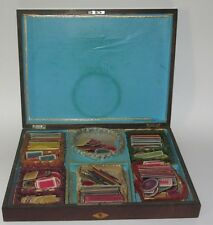 ANCIENNE BOITE A JEUX JETONS NAPOLEON III XIX EME ANTIQUE GAMING GAME BOX pieces