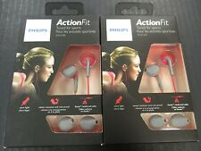 (2) Philips ActionFit SHQ1200 Sports In-Ear Sports Headphones Earbuds - EL 725