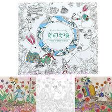 Kids Adult Alice in Wonderland An Inky Treasure Hunt Coloring Graffiti Book