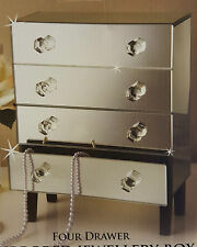 FOUR DRAWER MIRRORED JEWELLERY BOX