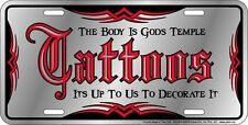 brand new metal license plate TATTOOS - for the tattoo parlor artist