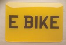 E BIKE MOTORBIKE REAR YELLOW NUMBER 8 X 6 SHOW PLATE  Buy it Now !! £6.50 Each
