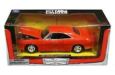 1969 Dodge Charger R/T Coupe Die-cast Car 1:24 New Ray City Cruizer 8inch Orange