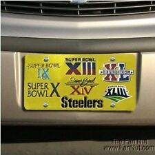 Pittsburgh Steelers 6x Super Bowl Champions Deluxe Laser Tag License Plate