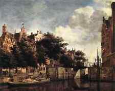 Heyden Jan Van Der The Martelaarsgracht In Amsterdam A4 Print