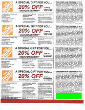 (4) 20% OFF HOME DEPOT Competitors Coupon at Lowe's expire 7/31/17