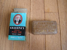 1950s Vintage Grandpa's Wonder Pine Tar Soap & Box
