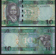 South Sudan 10 Pounds 2015, Pick 7b Mint Unc