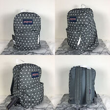 2016 Jansport Superbreak Backpack Shady Grey / White Dot 100% AUTHENTIC School