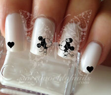 MICKEY MINNIE LOVE WATER DECALS TRANSFERS DECORACION DE UÑAS