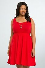 NWT Torrid Red Bow Back Skater Dress Women's Plus Size 4X 26 (CCC18)