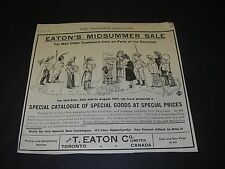 Magazine Print Ad 1906 Department Store Eaton's Mail Order Catalog Canada