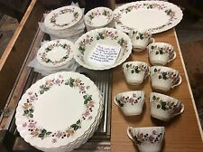 Hedgerow staffordshire Myott olde Chelesa China set England plates cups bowls +