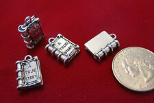 "BULK! 15pc ""A true story book"" charms in antique silver (BC451B)"