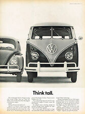 Vintage 1961 Magazine Ad Volkswagen Think Tall With Our Staion Wagon