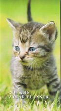 KITTEN 2015-2016 - 2 YEAR POCKET CALENDAR AGENDA PLANNER APPOINTMENT BOOK CAT **