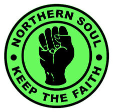 NORTHERN SOUL - KTF (GREEN) - CAR / WINDOW INSIDE STICKER + 1 FREE - BRAND NEW