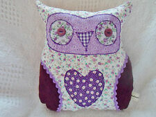 Children's Craft Kit Owl Cushion Kit Purple Fabric Easy Sewing Craft Kit!
