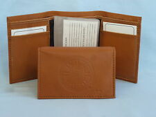 BOSTON BRUINS   Leather TriFold Wallet    NEW    brown 2