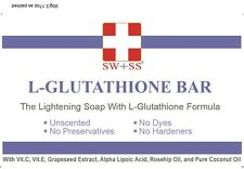 SWISS L Glutathione Skin Whitening /Lightening Soap, Buy 3 FREE 1 SW+SS Soap