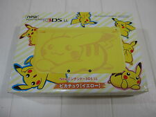 NEW Nintendo 3DS LL XL Console Pokemon Pikachu Yellow Japan Limited ver.