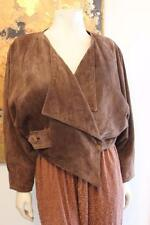 Awesome Vintage Forma England Brown Suede Cropped Motorcycle Style Jacket Small