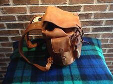 VINTAGE COGNAC DISTRESSED BASEBALL GLOVE LEATHER RUCKSACK BACKPACK BAG R$895