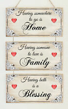 Beautiful Plaques Home Family Blessing Love Wedding Engagement Gift Present