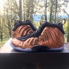 Nike Little Posite One GS Size 6.5y Black Metallic Copper Foamposite DS New