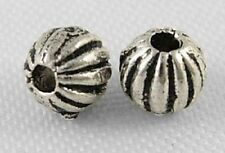 50 x 4mm Tibetan Silver Spacer Beads Round Melon Grooved - LF NF - SP29