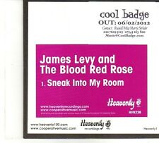 (DP688) James Levy And The Blood Red Rose, Sneak Into My Room - 2012 DJ CD