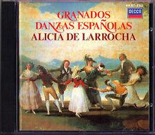 Alicia de LARROCHA: GRANADOS Danzas Espanolas DECCA CD 1985