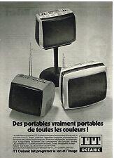 Publicité Advertising 1977 téléviseur portables ITT Océanic