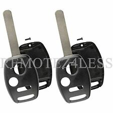 2 Replacement Cases for Honda Fit Odyssey Pilot Remote Car Key Fob Shell 3b slot